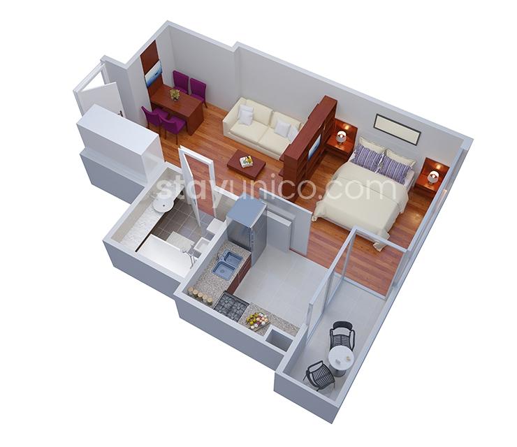Apartment in Palermo Soho Floorplan