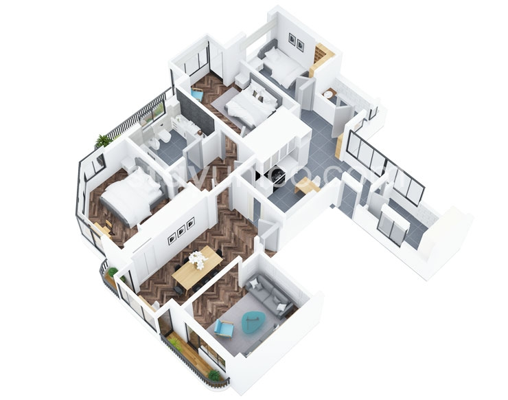 Apartment in Palermo Chico Floorplan