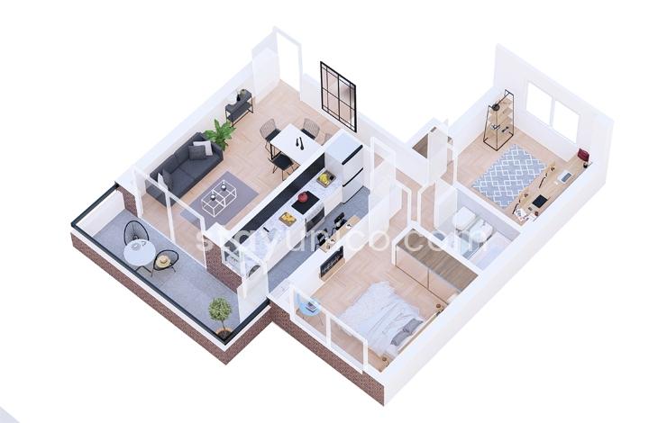 Apartment in Palermo Chico Floorplan
