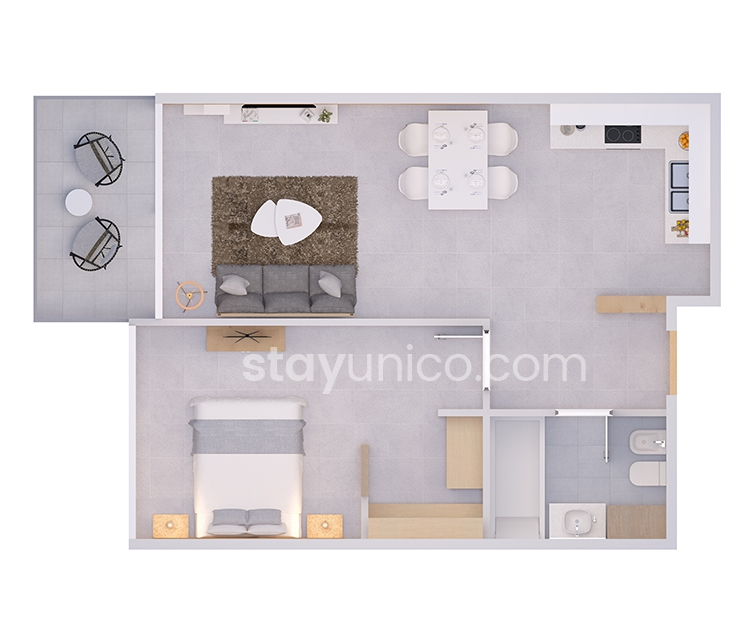 Apartment in Palermo Hollywood Floorplan