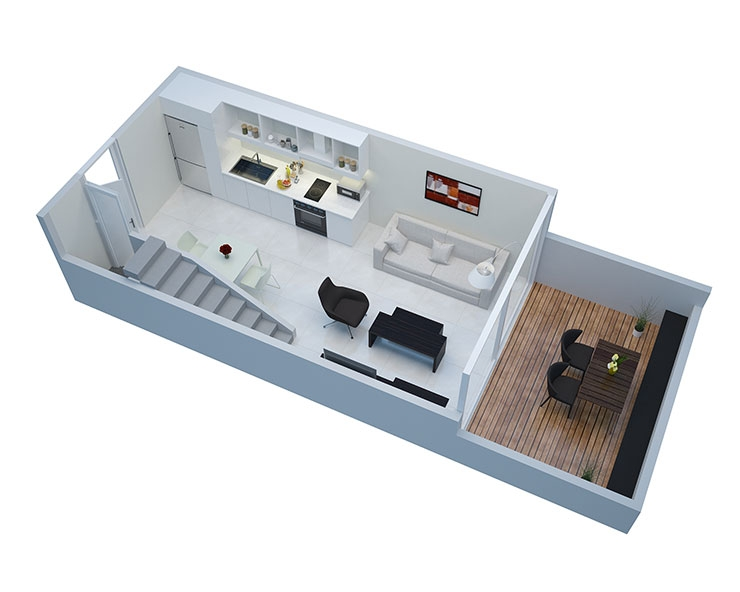 Apartment in Palermo Hollywood Floorplan