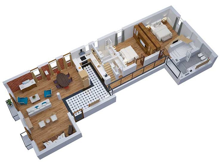 Apartment in Recoleta Floorplan