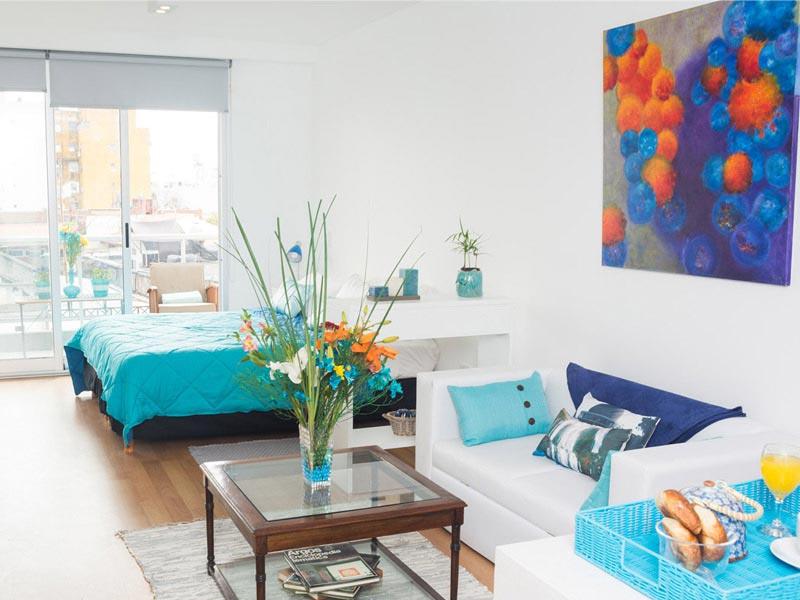 Apartment in Palermo Soho, Powder Blue