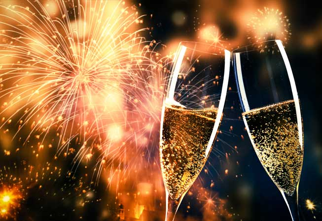Celebrate 2017 Buenos Aires Toast Champagne